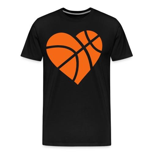 Heart Basketball T-Shirt - Men's Premium T-Shirt