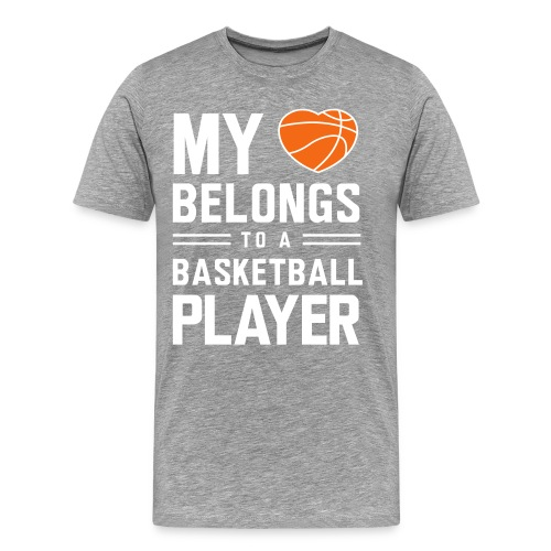 My Heart Basketball T-Shirt - Men's Premium T-Shirt