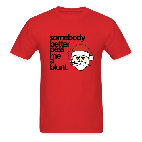 Santa Claus - Blunt Pass - Men's T-Shirt