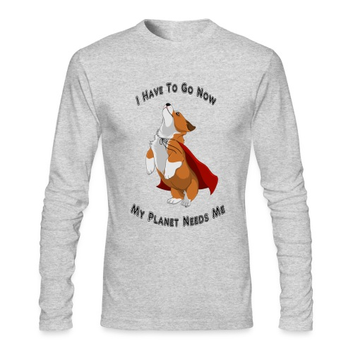Long Sleeve Men's Shirt - SuperCorgi - Men's Long Sleeve T-Shirt by Next Level