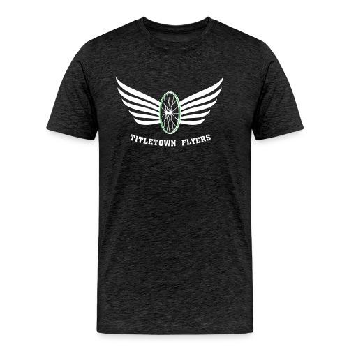 Flyers Premium White on Dark Heather - Men's Premium T-Shirt