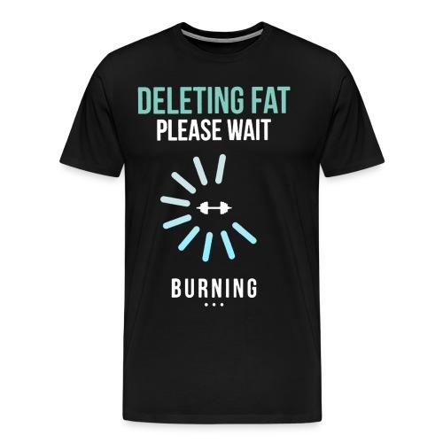 Deleting Fat Gym T-Shirt - Men's Premium T-Shirt
