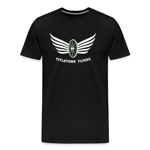 Flyers Premium White on Black - Men's Premium T-Shirt