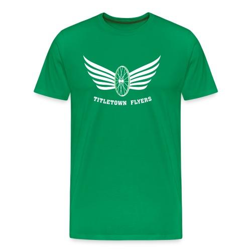 Flyers Premium White on Green - Men's Premium T-Shirt