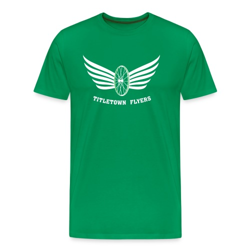 Flyers Premium White on Green - Men's Premium T-Shirt