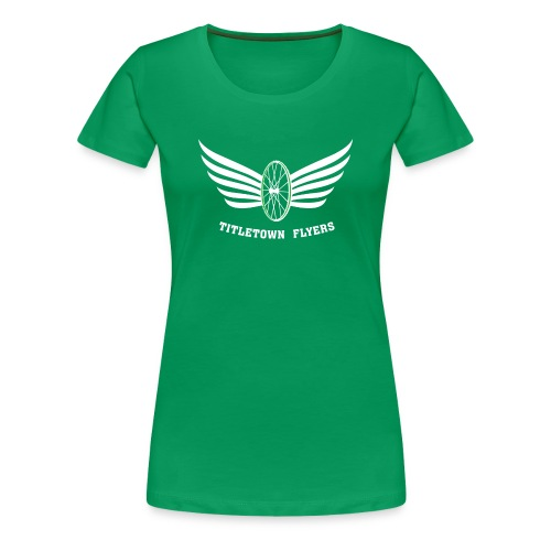 Flyers Women's White on Green - Women's Premium T-Shirt