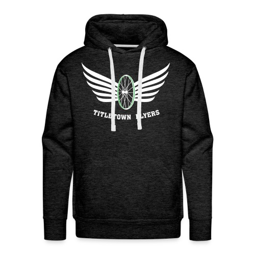 Flyers Premium Hoodie White on Dark Heather - Men's Premium Hoodie