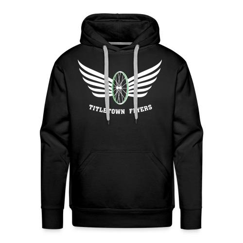 Flyers Premium Hoodie White on Black - Men's Premium Hoodie