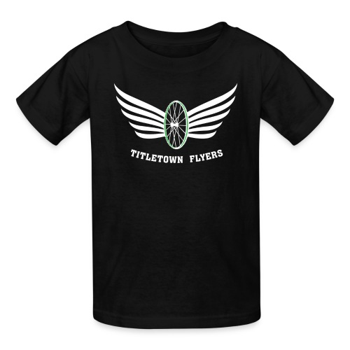 Flyers Kids White on Black - Kids' T-Shirt