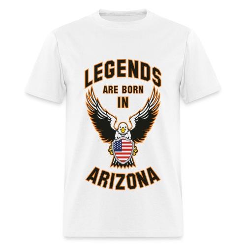 Legends are born in Arizona - Men's T-Shirt