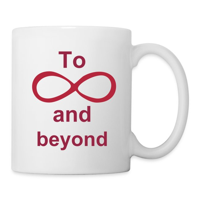 Spikey Designs Infinity Symbol Add Your Own Text Coffeetea Mug