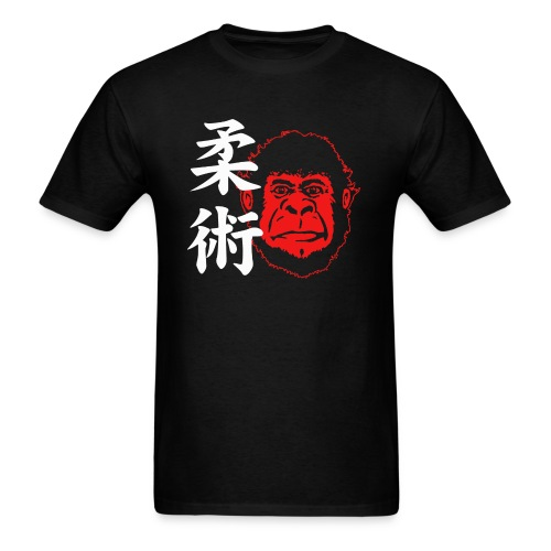 TM Joe Gorilla with Kanji - black - Men's T-Shirt