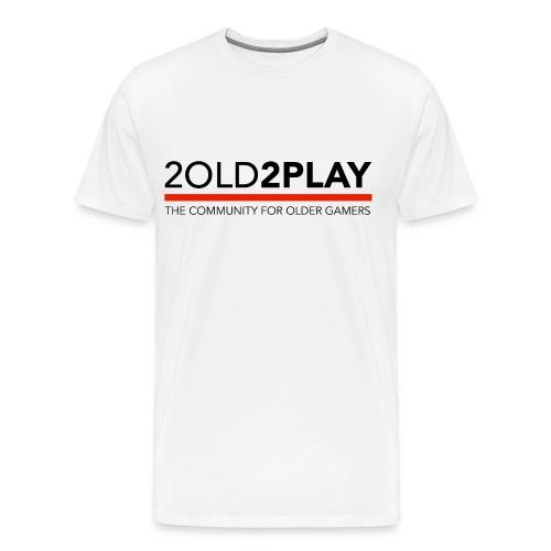 Men's White 2o2p Tee with Name & Controller NewLogo Red - Men's Premium T-Shirt