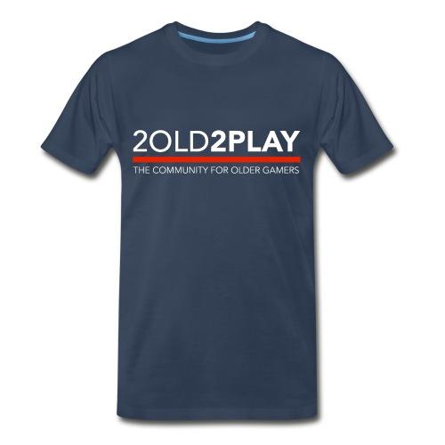 Men's Navy 2o2p Tee with Name & Controller NewLogo Red - Men's Premium T-Shirt