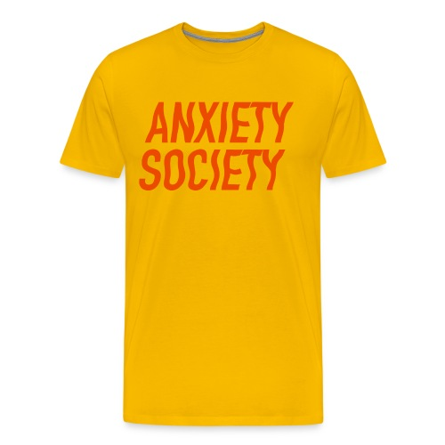 Anxiety Society Men's Tshirt - Men's Premium T-Shirt