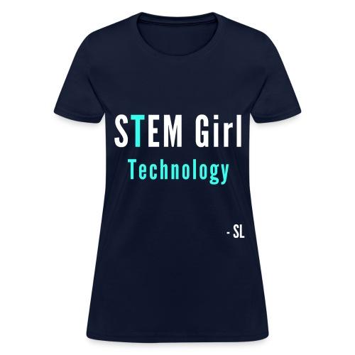 Women's STEM Girl Technology T-shirt Clothing by Stephanie Lahart. - Women's T-Shirt