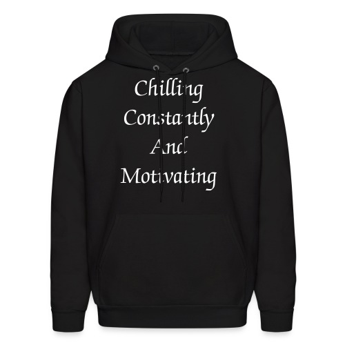 Black Chilling Constantly And Motivating Pullover - Men's Hoodie