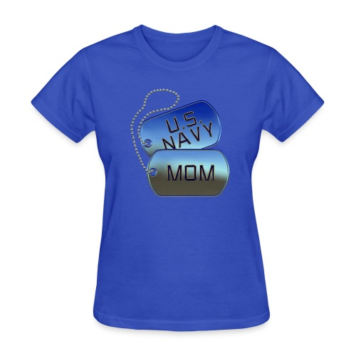 Navy Mom Dog Tags - Women's T-Shirt