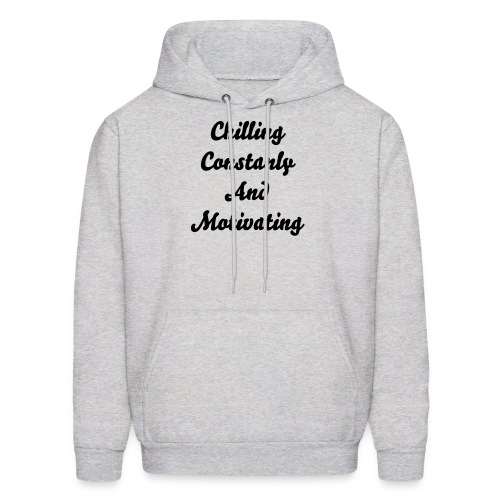 Grey Caring Contantly And Motivating Pullover - Men's Hoodie