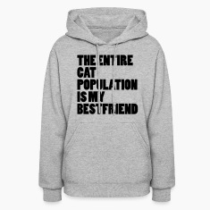 The Entire Cat Population Hoodies