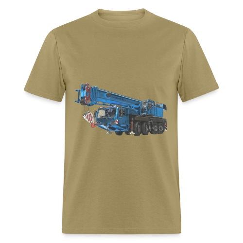 Mobile Crane 4-axle - Blue - Men's T-Shirt