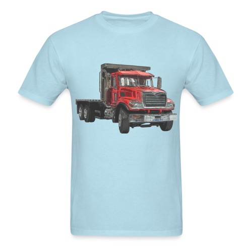 Flatbed Truck - Red - Men's T-Shirt