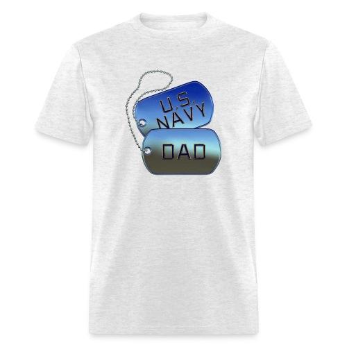Navy Dad Dog Tags - Men's T-Shirt