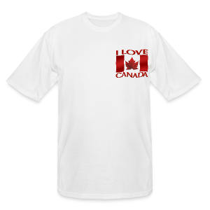 Men's Canada T-shirt I Love Canada 3XL 4XL Shirt Souvenir - Men's Tall T-Shirt