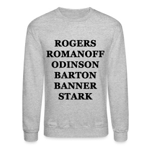 Avengers - Crew-neck (Black Writing) - Crewneck Sweatshirt