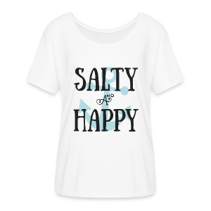Salty and Happy Beach Tee - Women's Flowy T-Shirt