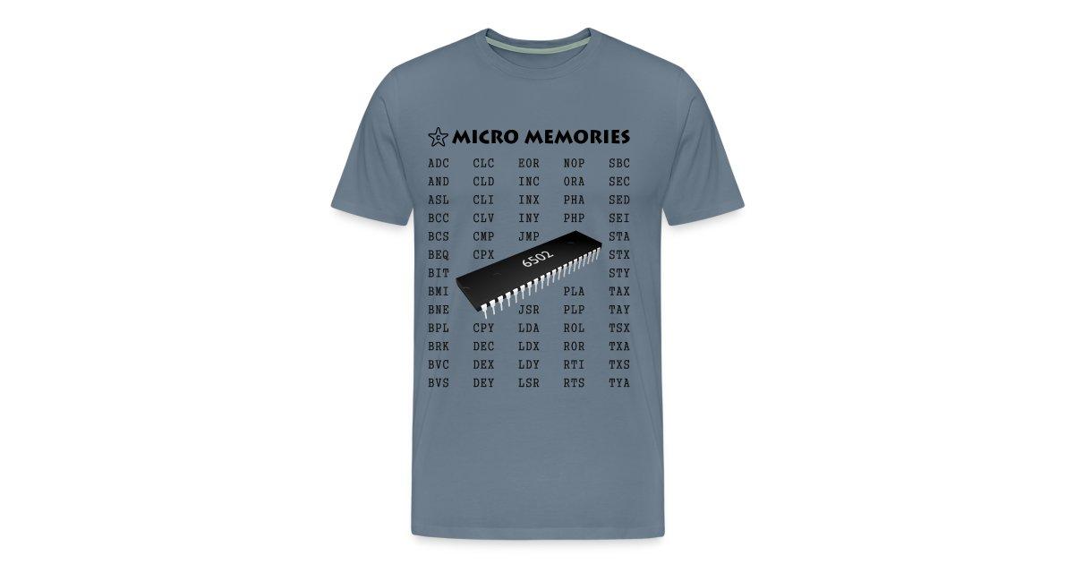 Starchip Designs | Programmers T-Shirt - Vintage 6502 Chip Microprocessor -  Mens Premium T-Shirt