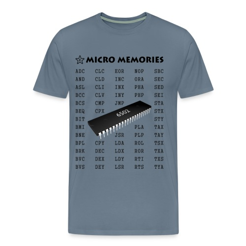 Programmer's T-Shirt - Vintage 6502 Chip Microprocessor - Men's Premium T-Shirt