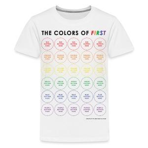 Colors of FIRST - Black Design (Kids) - Kids' Premium T-Shirt