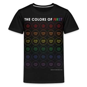 Colors of FIRST - White Design (Kids) - Kids' Premium T-Shirt