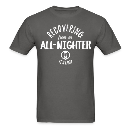 Recovering from an All Nighter - Baby Boy - Men's T-Shirt