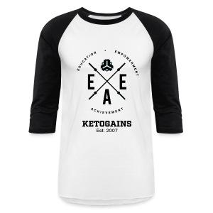 Unisex Baseball T-Shirt - New Logo EEA - Black Font  - Baseball T-Shirt