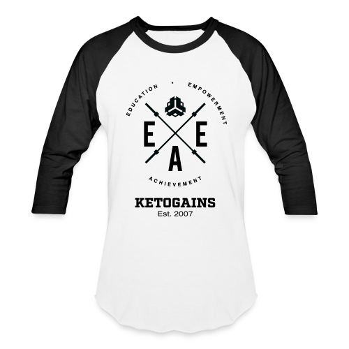 Unisex Baseball T-Shirt - New Logo EEA - Black Font  - Baseball T-Shirt