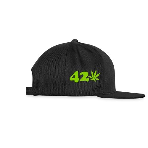 420 Snap-back Baseball Hat - Snap-back Baseball Cap