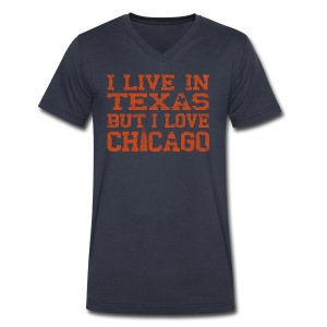 Live In Texas Love Chicago - Men's V-Neck T-Shirt by Canvas