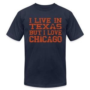 Live In Texas Love Chicago - Men's Fine Jersey T-Shirt