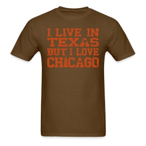 Live In Texas Love Chicago - Men's T-Shirt