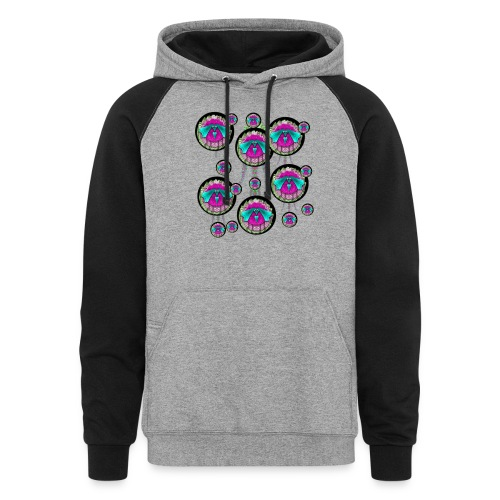 love dogs and food - Colorblock Hoodie