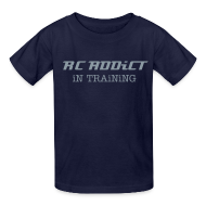Kids' Shirts ~ Kids' T-Shirt ~ RC ADDiCT - iN TRAiNiNG - Metallic Chrome
