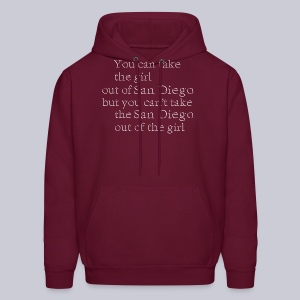 Take the girl out of San Diego - Men's Hoodie