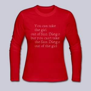 Take the girl out of San Diego - Women's Long Sleeve Jersey T-Shirt