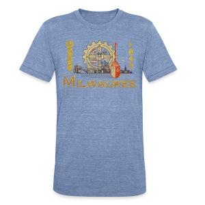 Milwaukee Flag - Unisex Tri-Blend T-Shirt