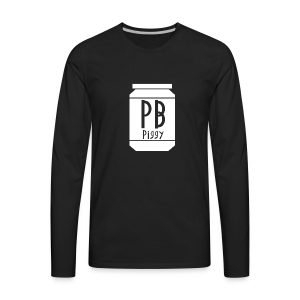 PBPiggy Premium Long Sleeve (Mens) - Men's Premium Long Sleeve T-Shirt