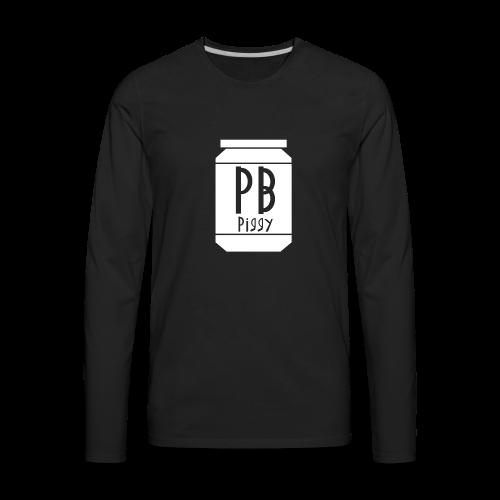 PBPiggy Premium Long Sleeve (Mens) - Men's Premium Long Sleeve T-Shirt