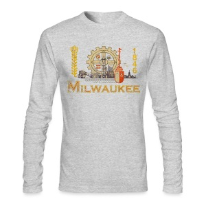 Milwaukee Flag - Men's Long Sleeve T-Shirt by Next Level