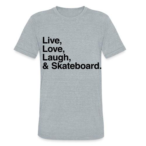 skate - Unisex Tri-Blend T-Shirt